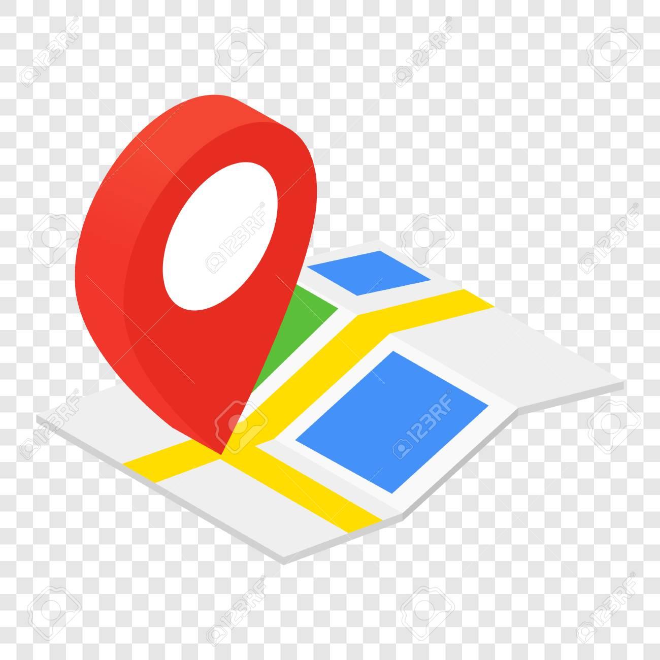 Icone Localisation icône 3d isométrique de localisation sur fond transparent clip art