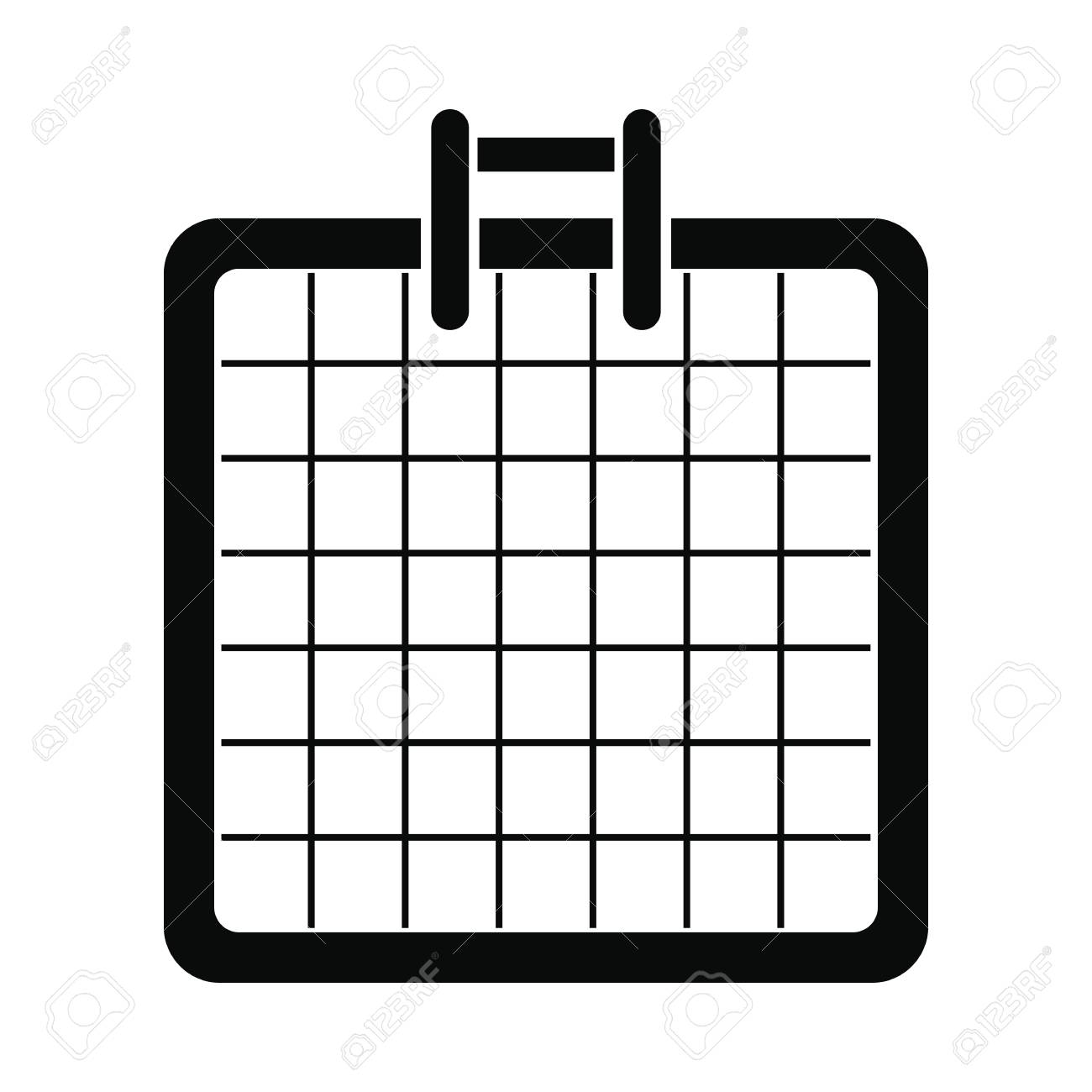 Swimming Pool Black Simple Icon Isolated On White Background Stock Vector