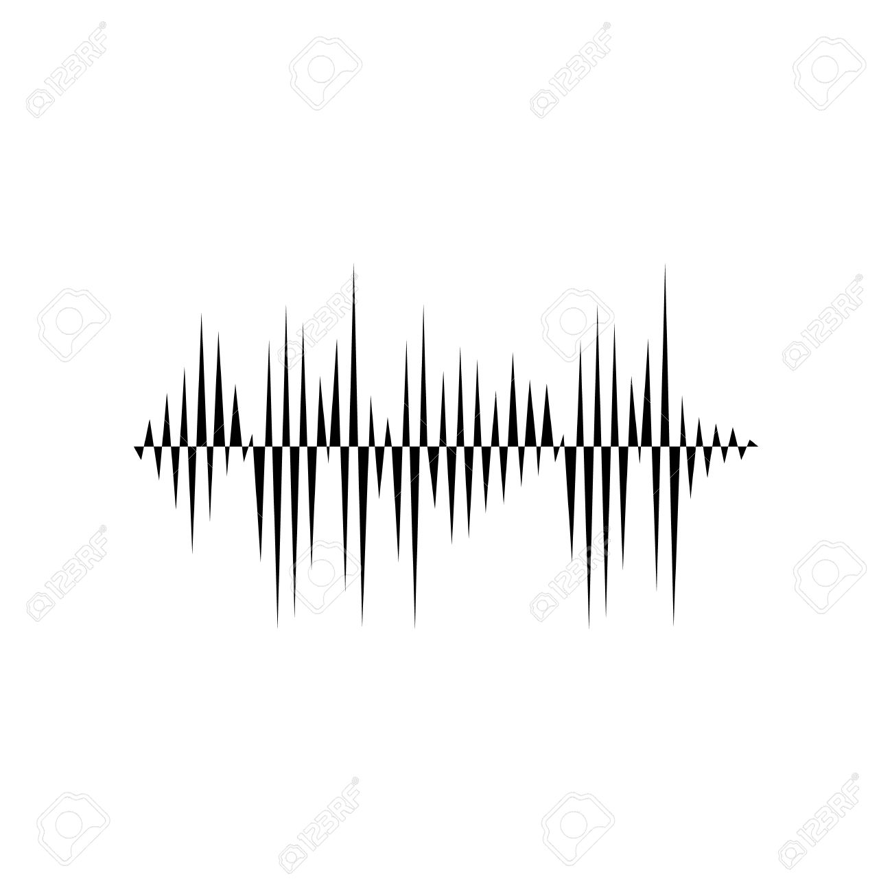 sound or audio wave isolated on white background royalty free
