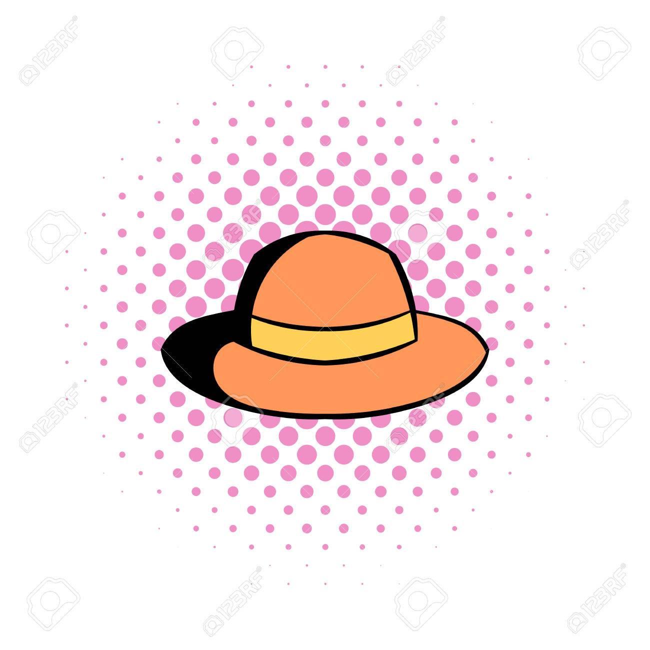 f9a785bf62daf Foto de archivo - Hipster icono de cómics sombrero. sombrero gris masculino  con arco sobre un fondo blanco