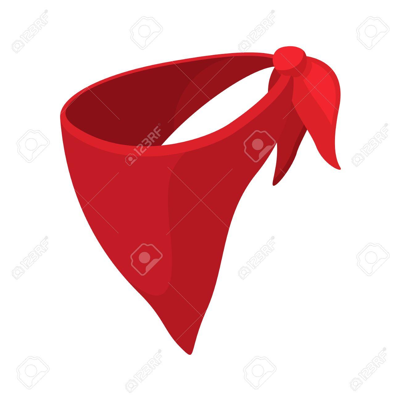 3713ed62ca0 Cowboy neckerchief cartoon icon on a white background Stock Vector -  52132808