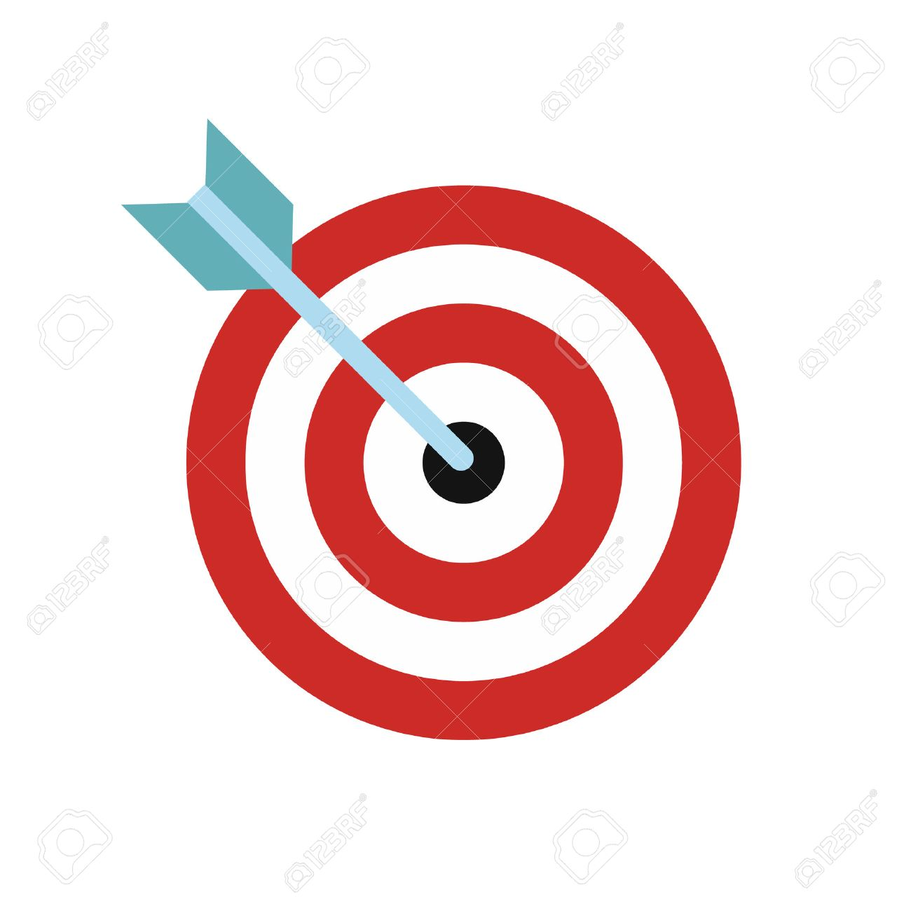 Target with dart flat icon isolated on white background - 51977844