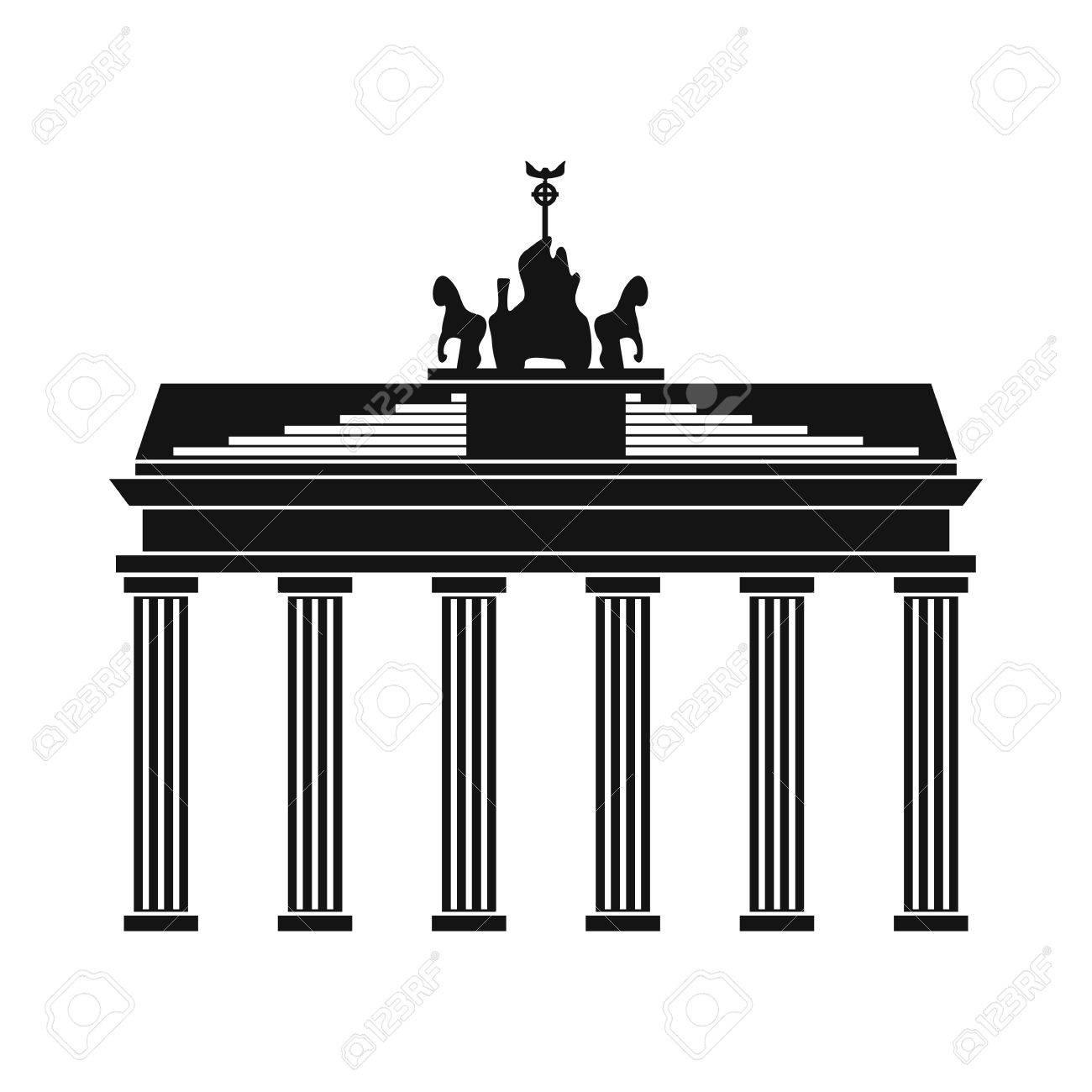 Brandenburger Tor Symbol In Einfachen Stil Isoliert Auf Weiss Lizenzfrei Nutzbare Vektorgrafiken Clip Arts Illustrationen Image 52509016