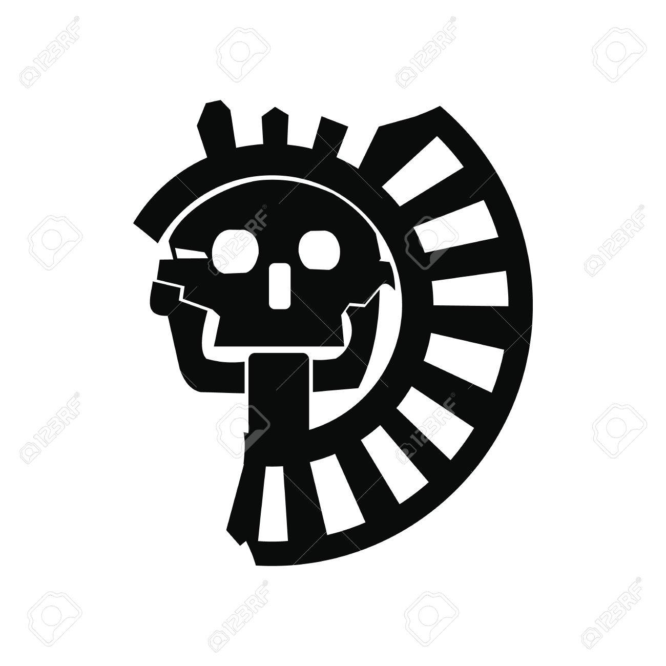 Skull the god of death of aztecs icon in simple style isolated skull the god of death of aztecs icon in simple style isolated on white background stock biocorpaavc Images