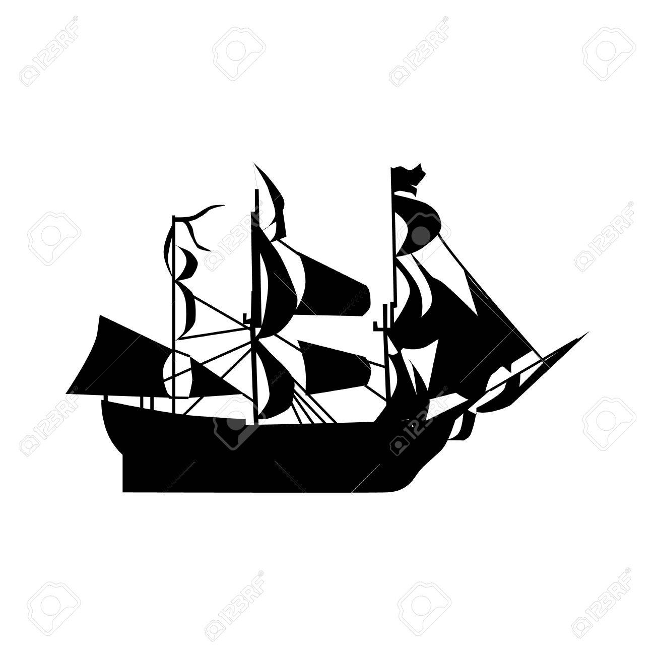 sailing ship silhouette isolated on white background royalty free rh 123rf com ships silhouettes vector ship silhouette vector free download