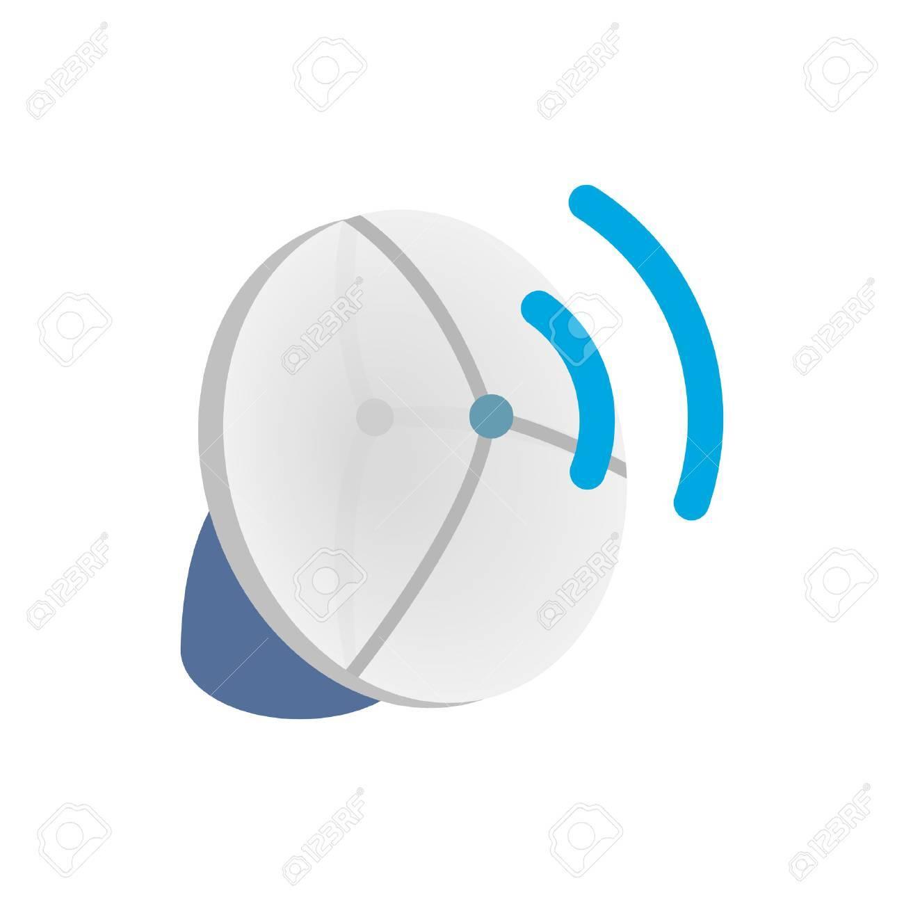 Wireless-Verbindung Symbol In Isometrischer 3D-Stil Auf Einem Weißen ...
