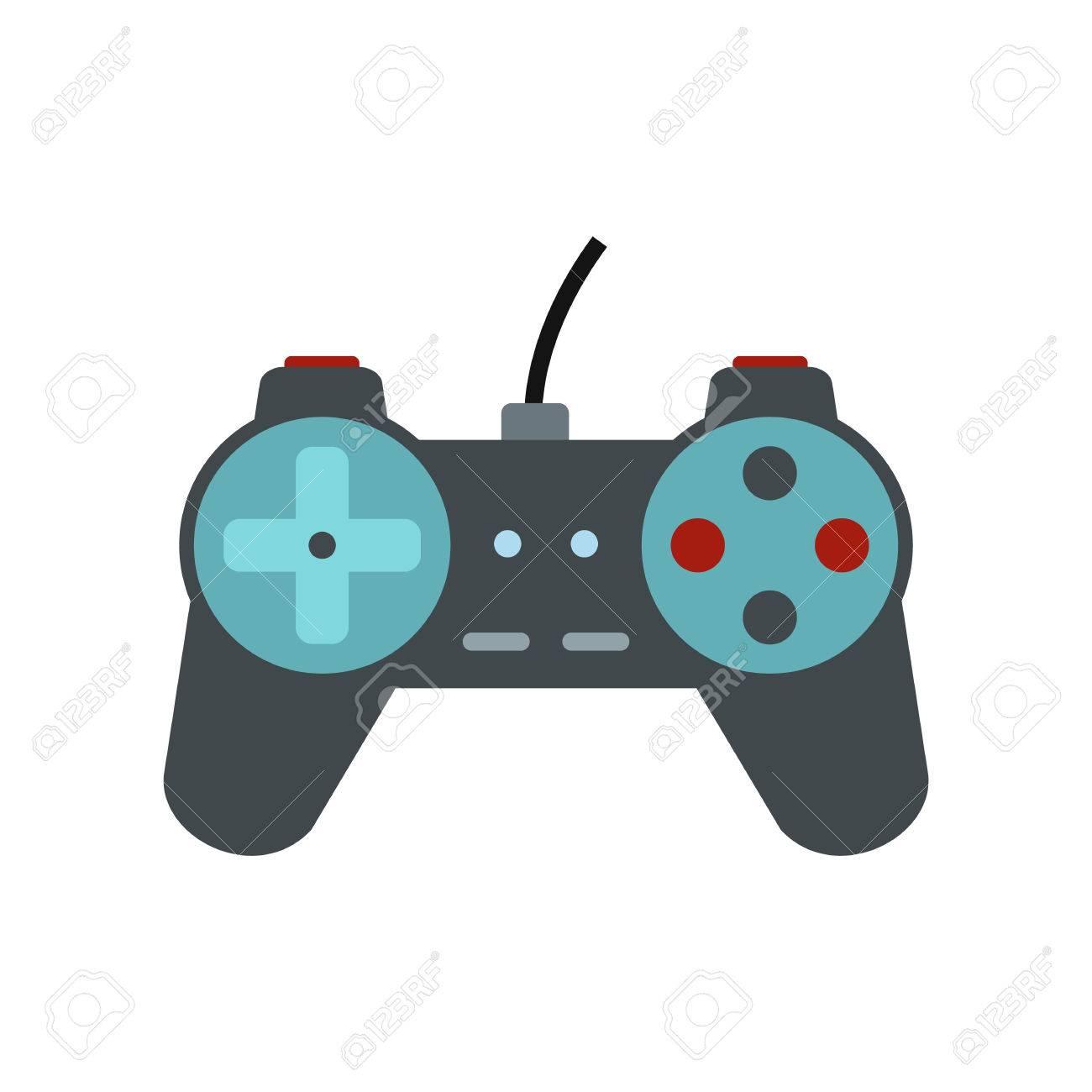 Video Game Controller Symbol In Flachen Stil Isoliert Auf Weiem