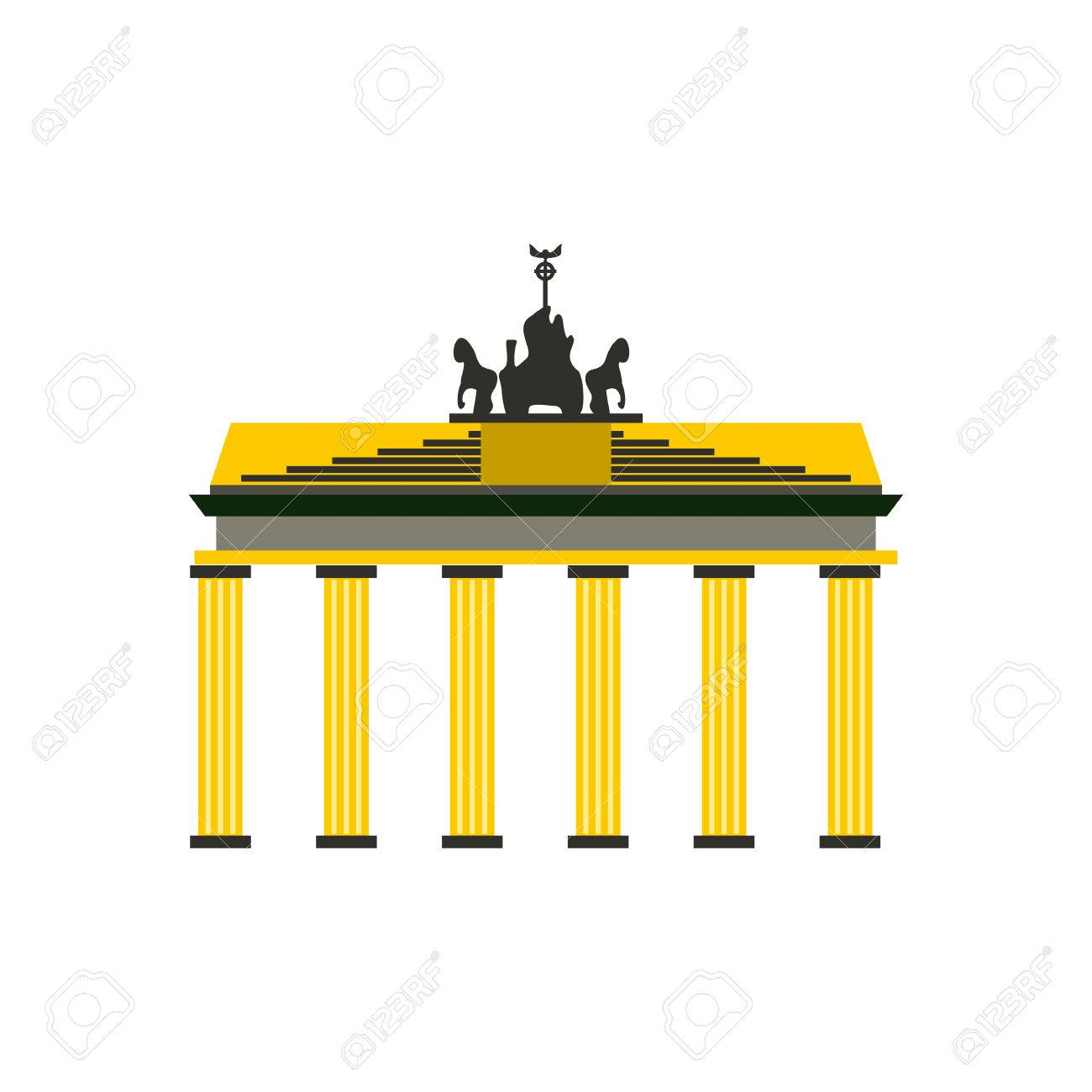 Brandenburger Tor Symbol In Flachen Stil Isoliert Auf Weissem Hintergrund Lizenzfrei Nutzbare Vektorgrafiken Clip Arts Illustrationen Image 54171801
