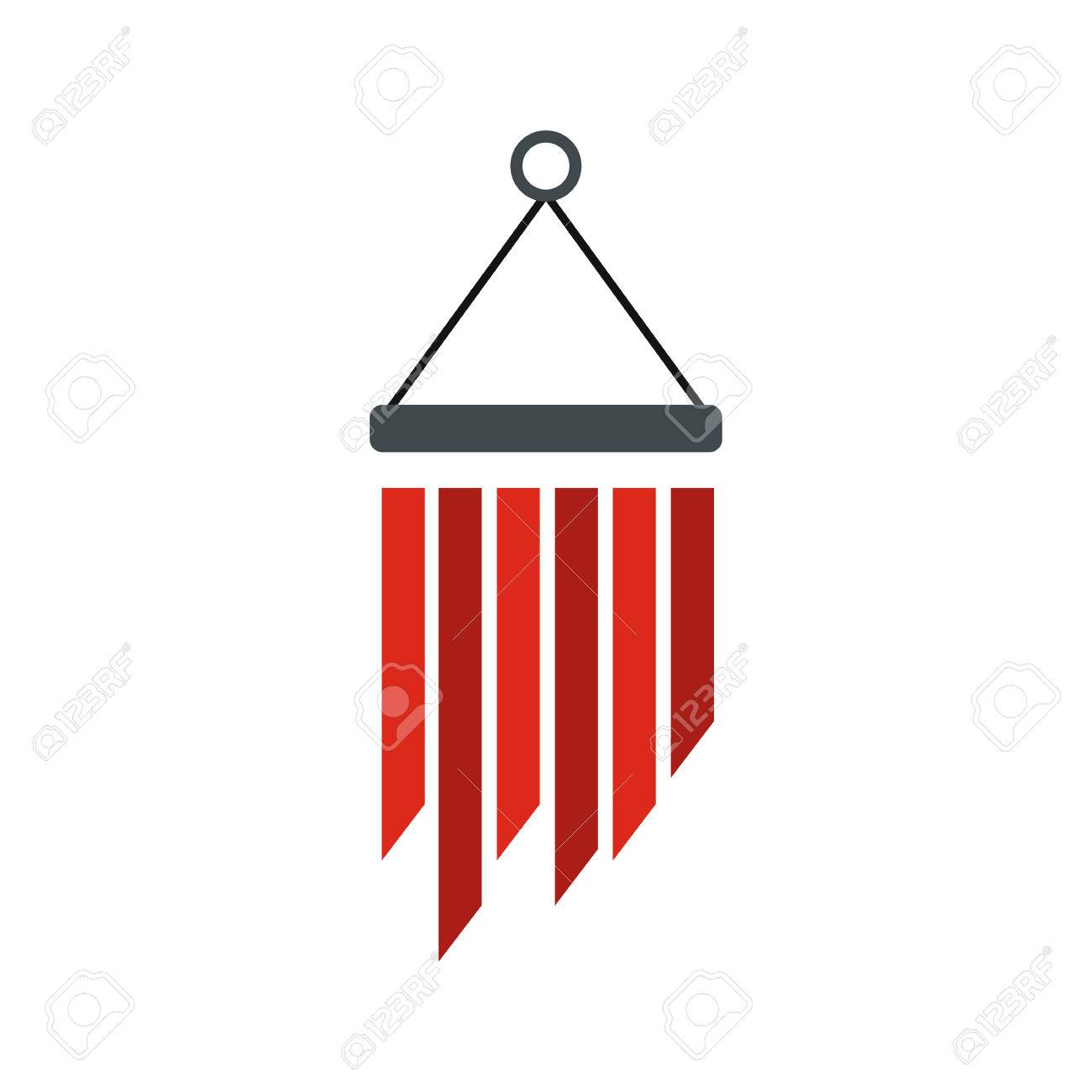 Wind chimes icon in flat style isolated on white background royalty wind chimes icon in flat style isolated on white background stock vector 54171838 buycottarizona Choice Image