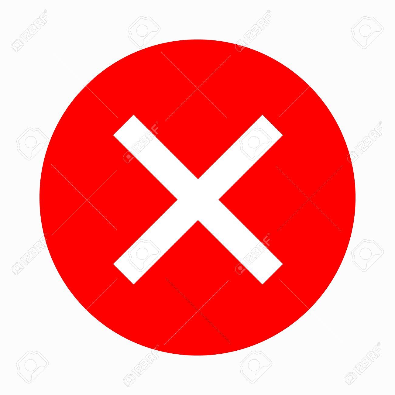 Rotes kreuz symbol  Rotes Kreuz, Häkchen-Symbol In Einfachen Stil Auf Einem Weißen ...
