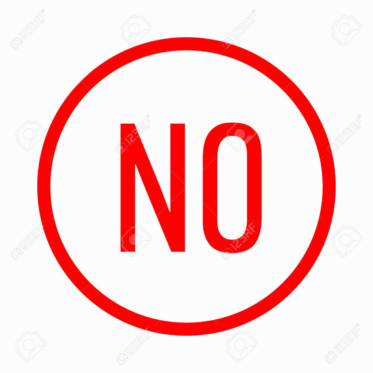 No In Circle Icon In Simple Style On A White Background Royalty ...