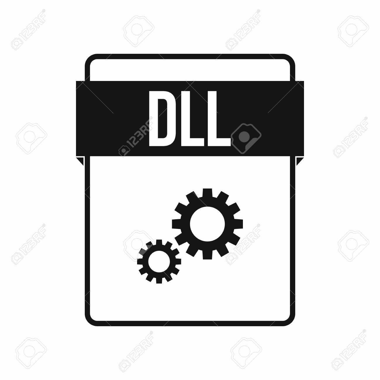 DLL file icon in simple style on a white background - 61121501