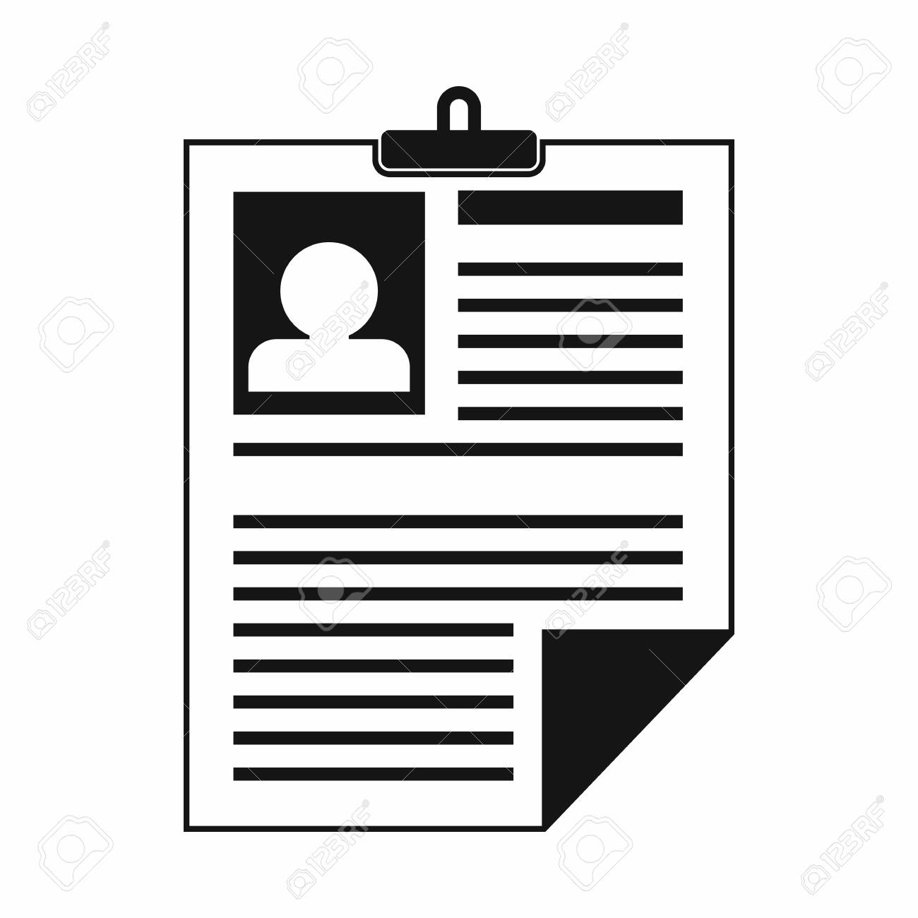 resume icon in simple style on a white background royalty free