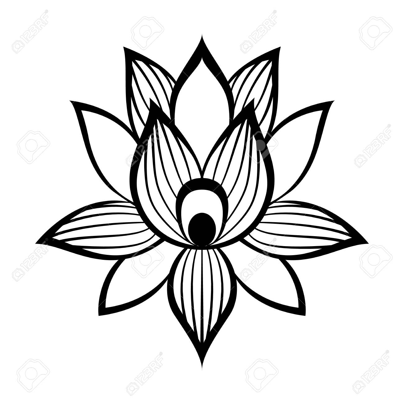 Lotus flower sign in simple style isolated on white royalty free lotus flower sign in simple style isolated on white stock vector 55597828 izmirmasajfo