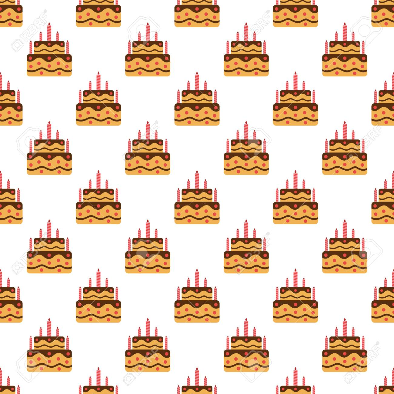 Birthday Cake Pattern Seamless Best For Any Design
