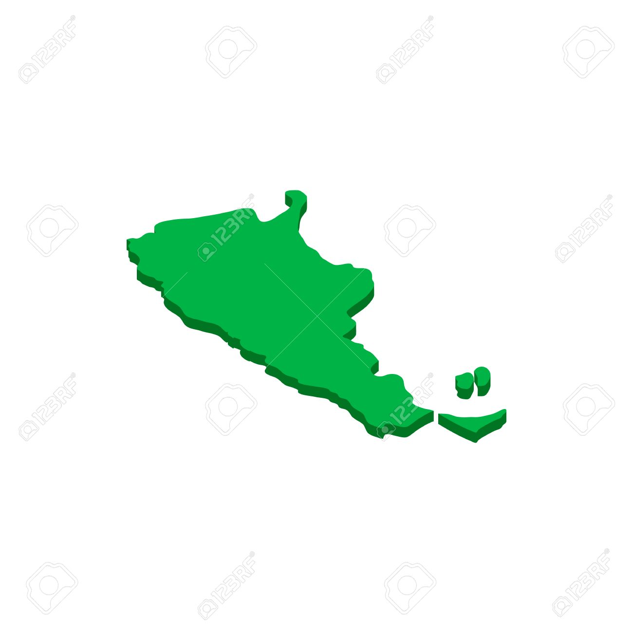 Map Of Argentina Icon In Isometric D Style Isolated On White - Argentina 3d map