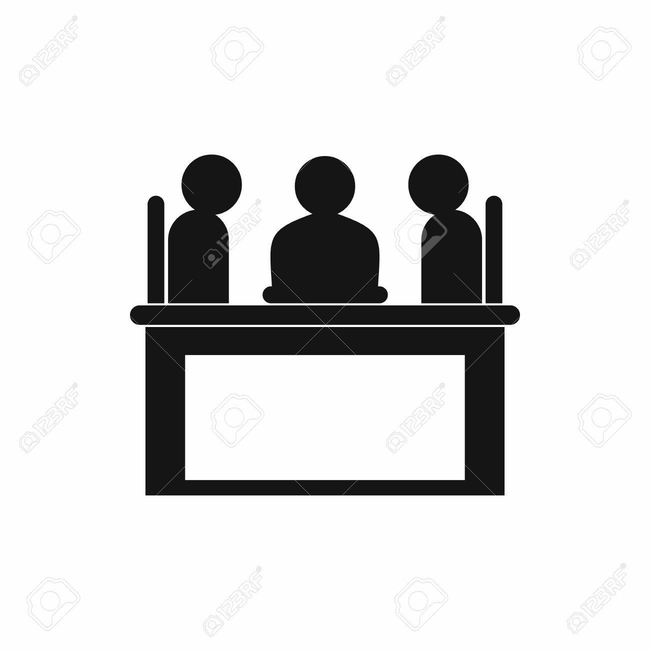 Simple table free other icons - Businessmen Sitting At The Table Negotiations Discussion Icon In Simple Style Isolated On White