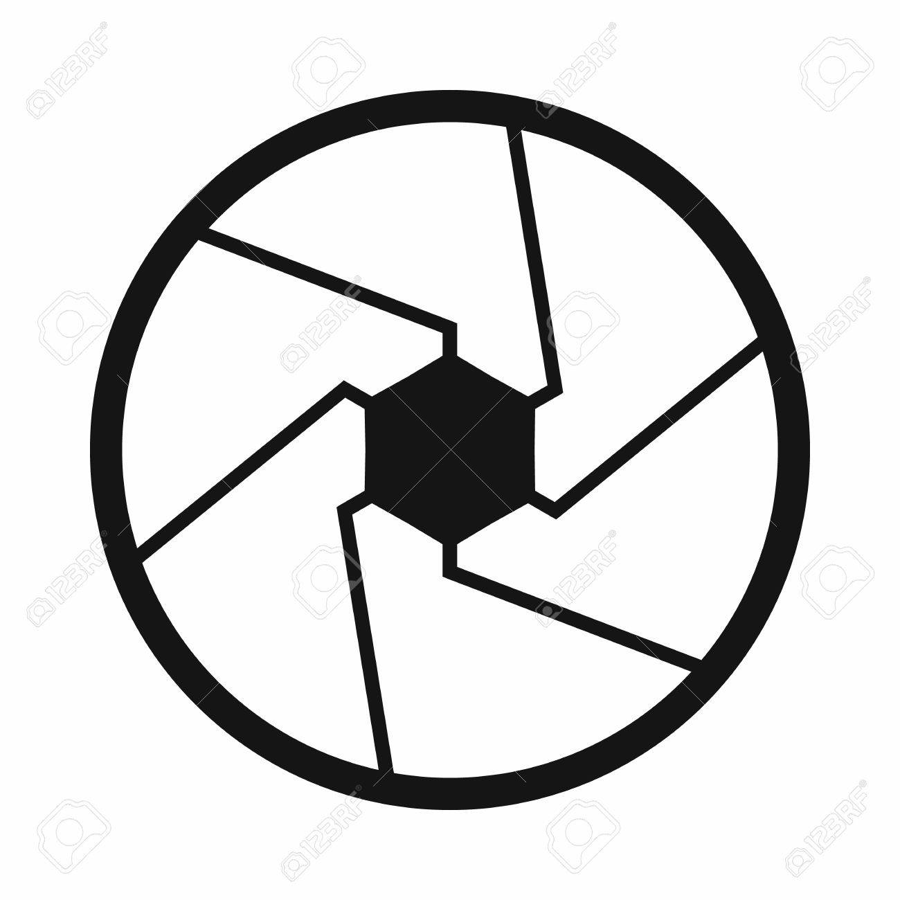 Camera shutter aperture icon in simple style on a white background camera shutter aperture icon in simple style on a white background stock vector 56727650 pooptronica Images