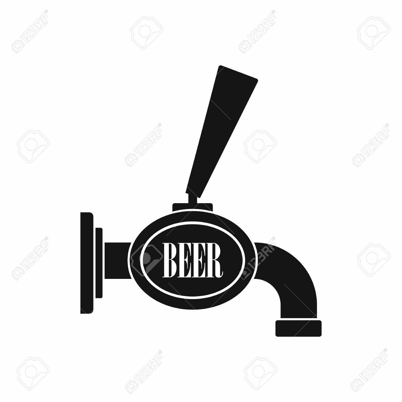Black Beer Tap Icon In Simple Style On A White Background Royalty ...
