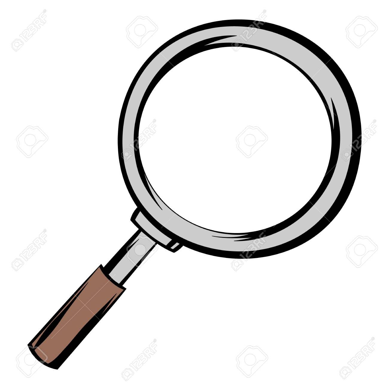 Magnifying Glass Icon Cartoon Royalty Free Cliparts, Vectors, And ...