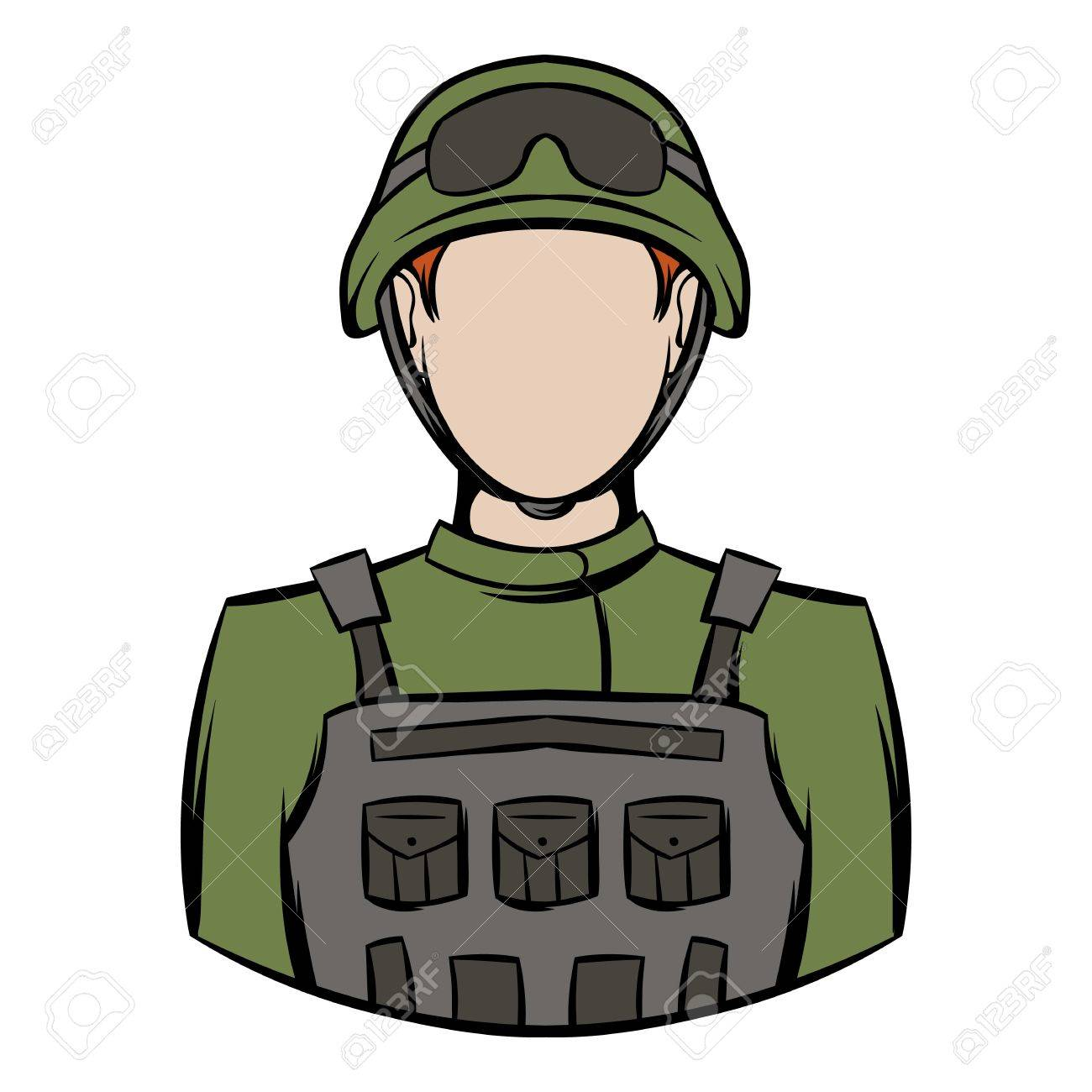 Soldier icon cartoon