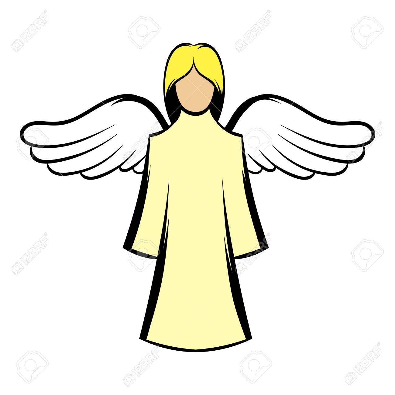 saint angel icon cartoon royalty free cliparts vectors and stock rh 123rf com cartoon baby angel images cartoon baby angel images