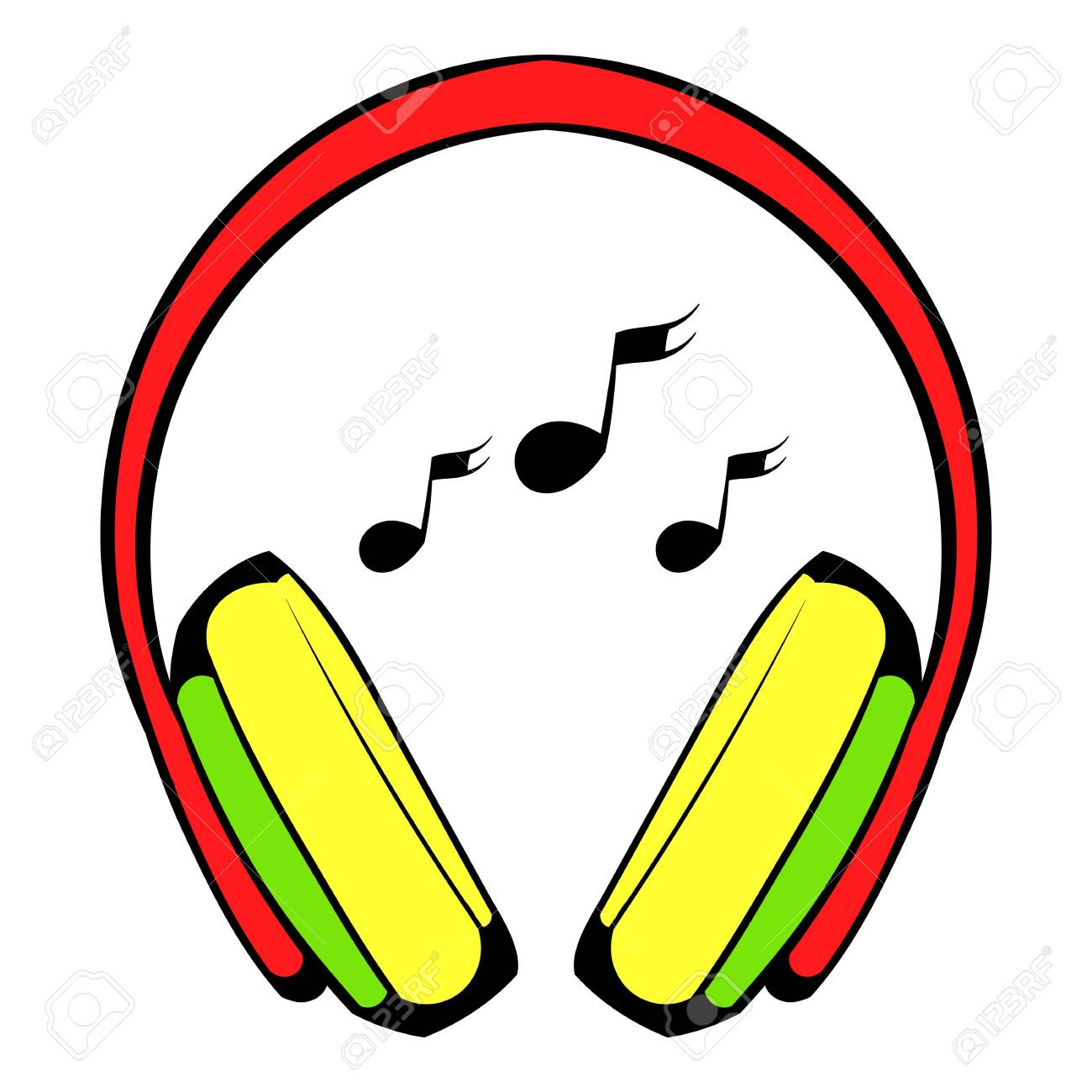 Kopfhörer-Symbol, Icon-Cartoon Lizenzfrei Nutzbare Vektorgrafiken ...