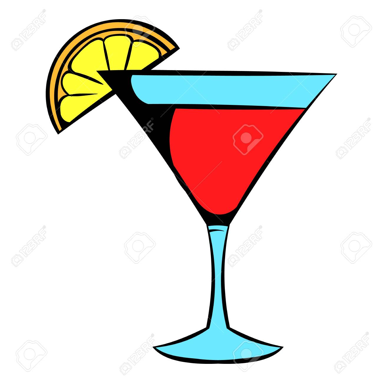 martini glass with red cocktail icon icon cartoon royalty free rh 123rf com cartoon pics of martini glasses cartoon martini glass clipart