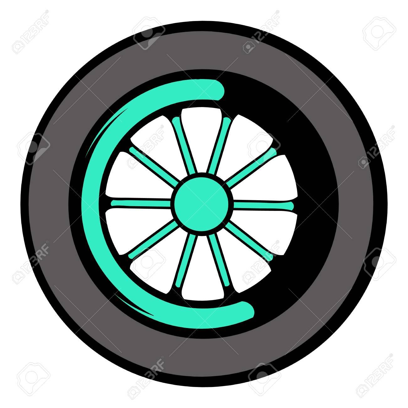 Car Wheel Icon Icon Cartoon Royalty Free Cliparts Vectors And Stock Illustration Image 74004348