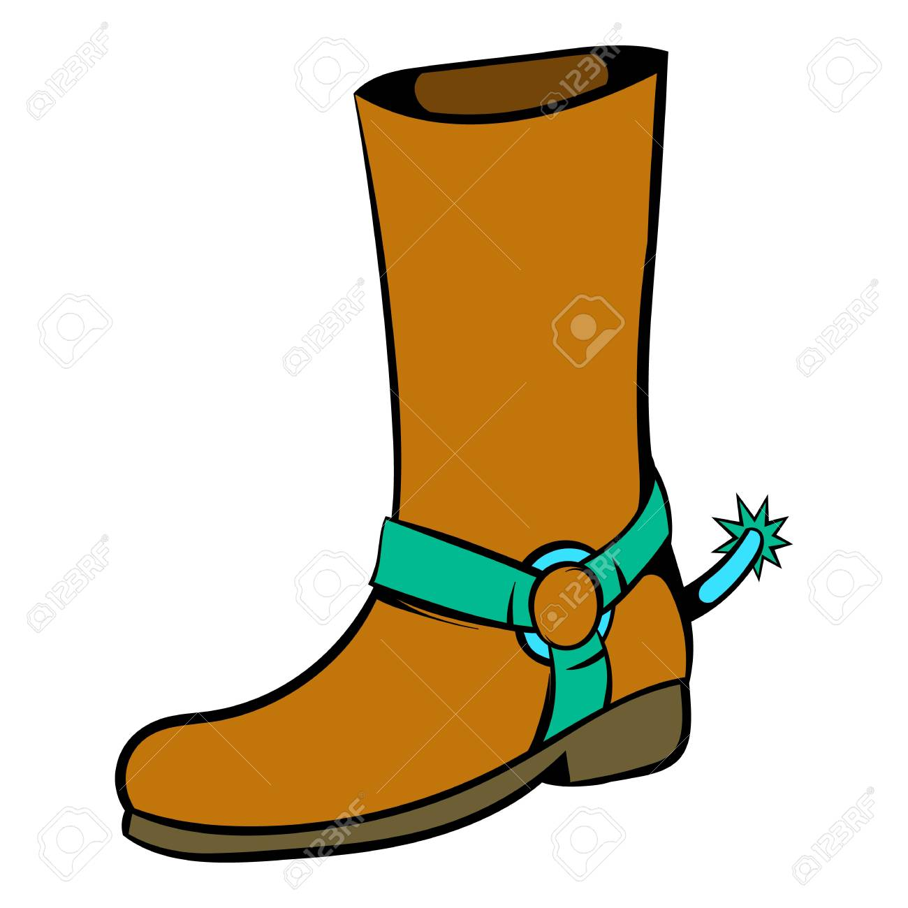 3a8ef753818 Cowboy boot icon, icon cartoon