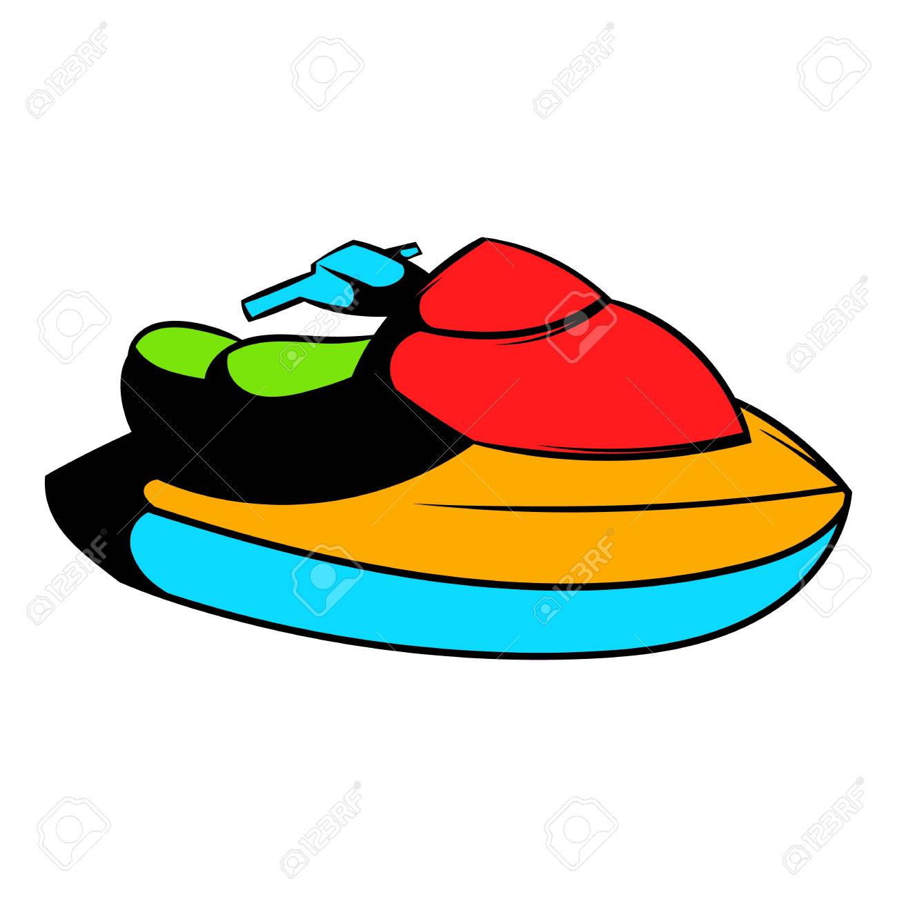 Jet Ski Water Scooter Icon Icon Cartoon Royalty Free Cliparts Vectors And Stock Illustration Image 74097164