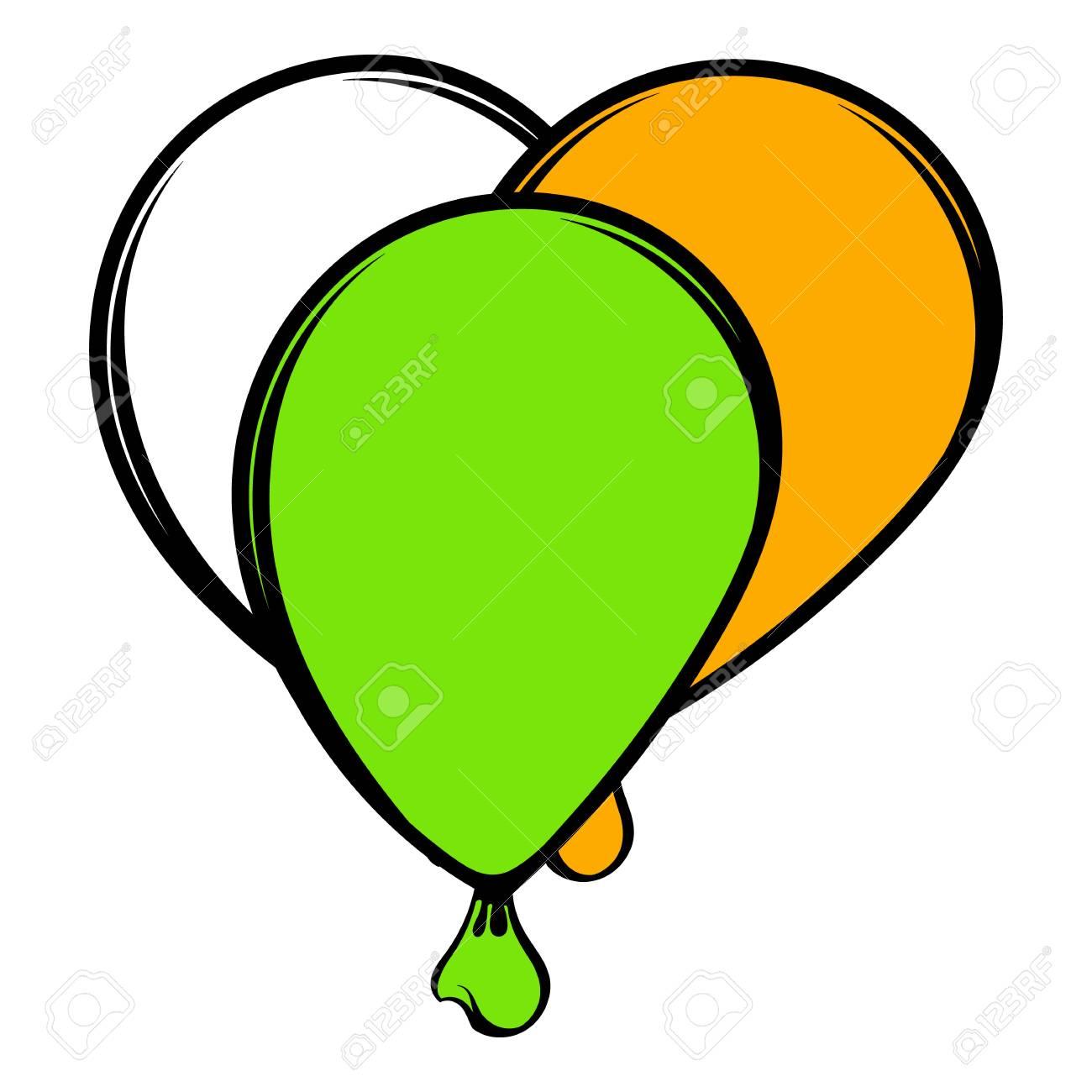 Ballons En Icone De Couleurs Irlandaises Icone Dessin Anime Clip