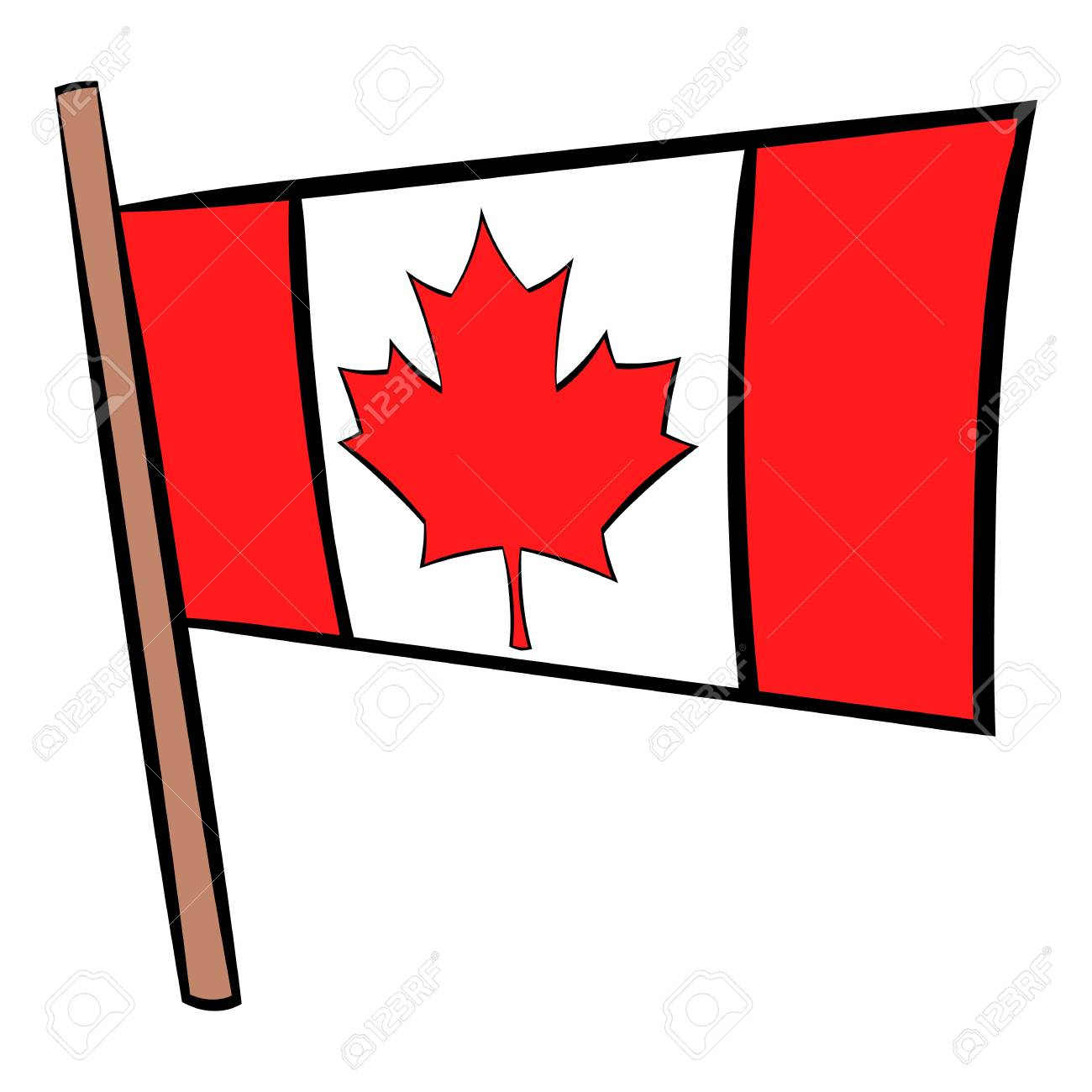 flag of canada icon cartoon royalty free cliparts vectors and rh 123rf com cartoon flag images cartoon flag waving