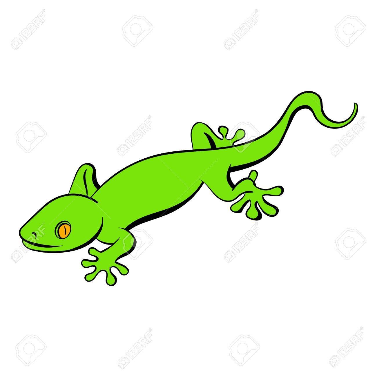 green gecko lizard icon cartoon royalty free cliparts vectors and rh 123rf com gekko cartoon pj masks gecko cartoon images