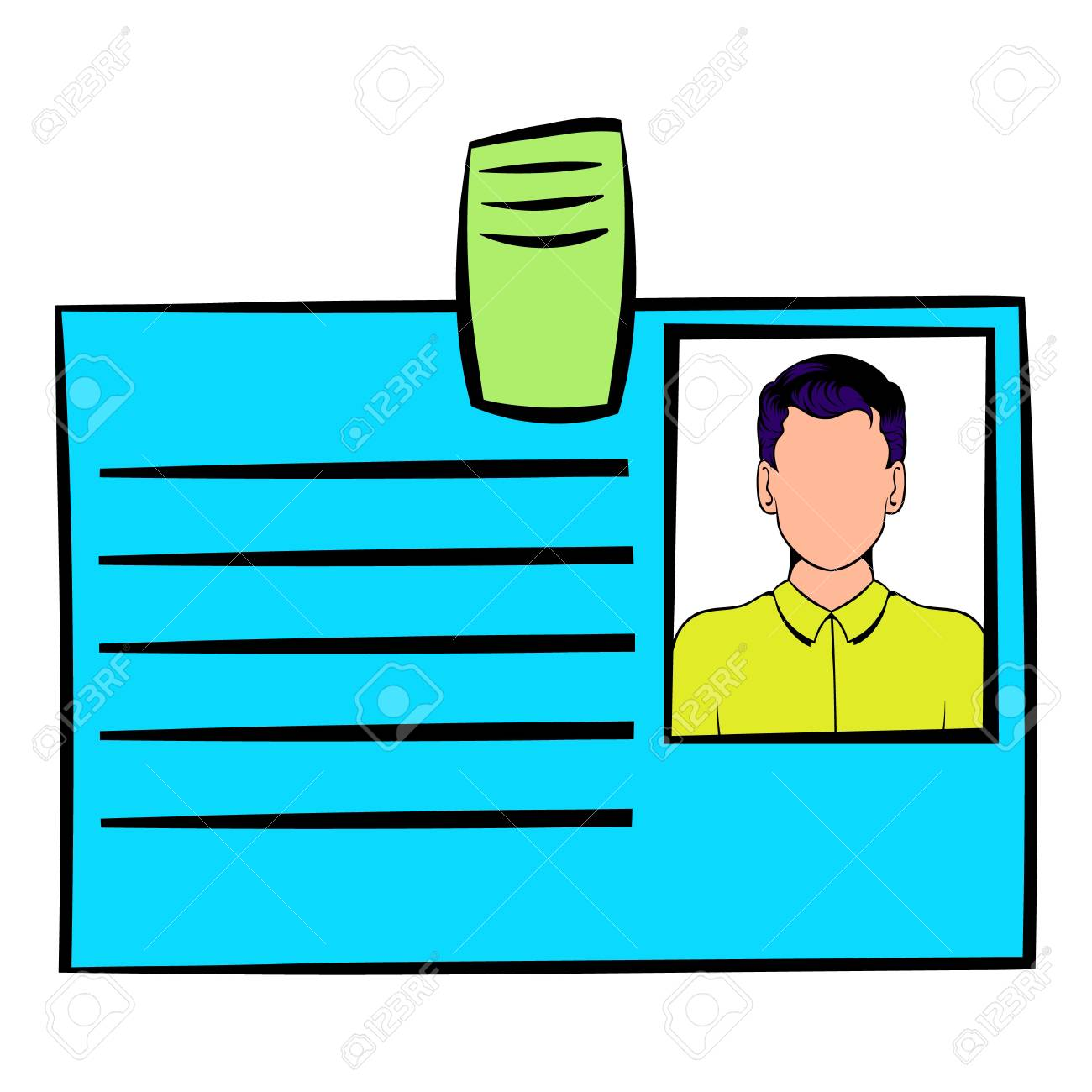 carte d identité dessin Icône De Carte D'identité Dessin Animé Clip Art Libres De Droits