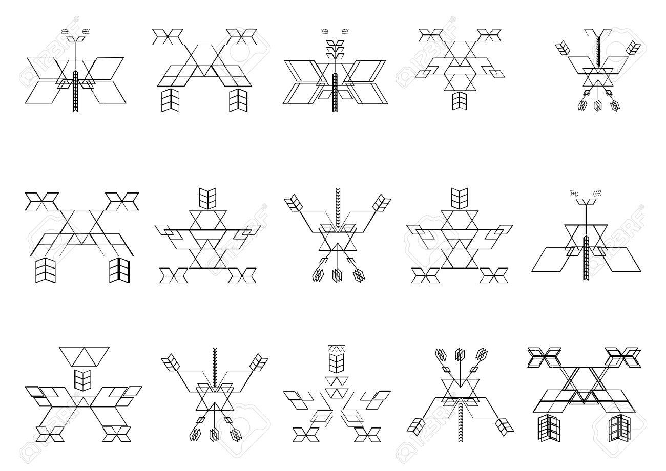sacred geometry vector graphic symbols and elements royalty free