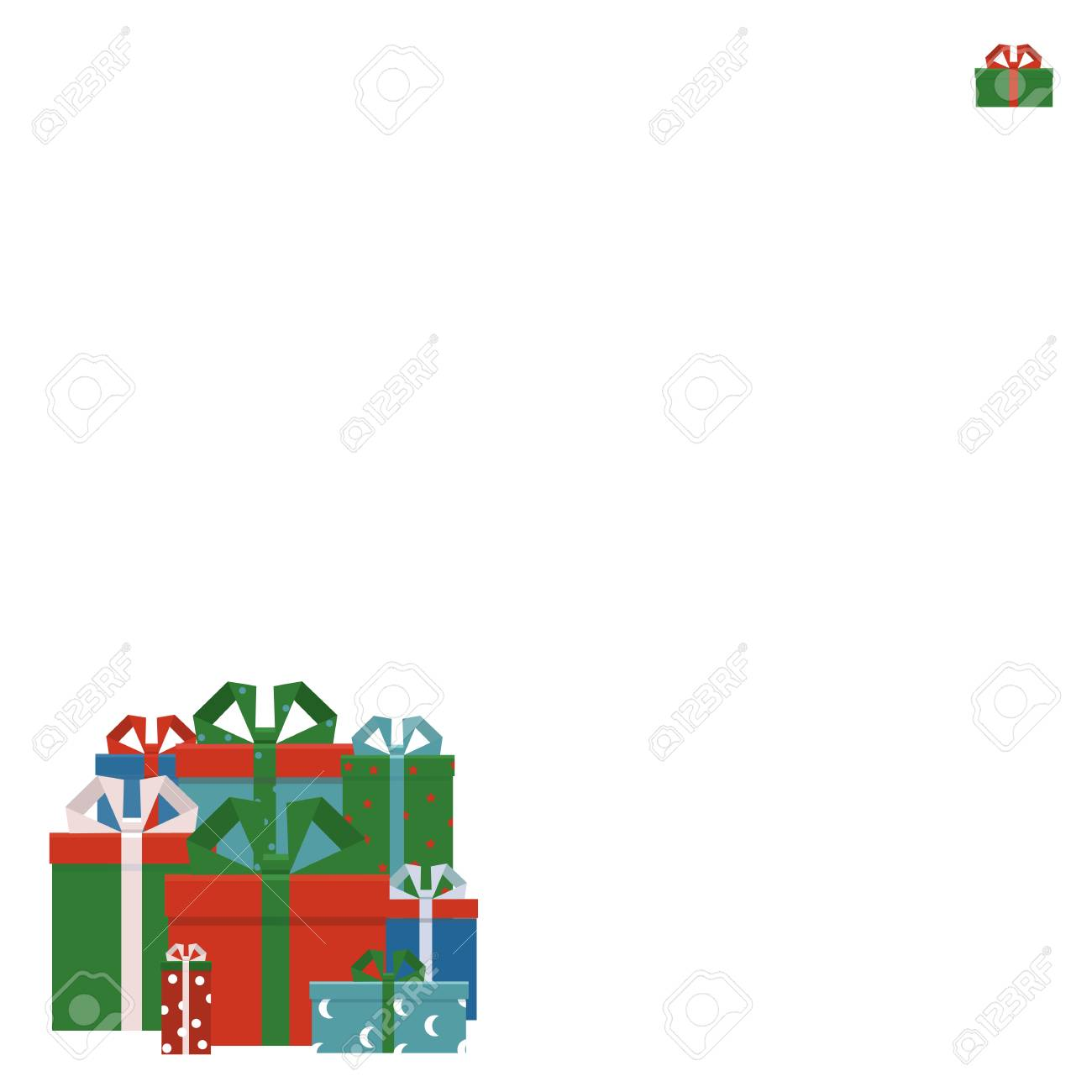 merry christmas and happy new year party invitation card with gift boxes poster holiday design
