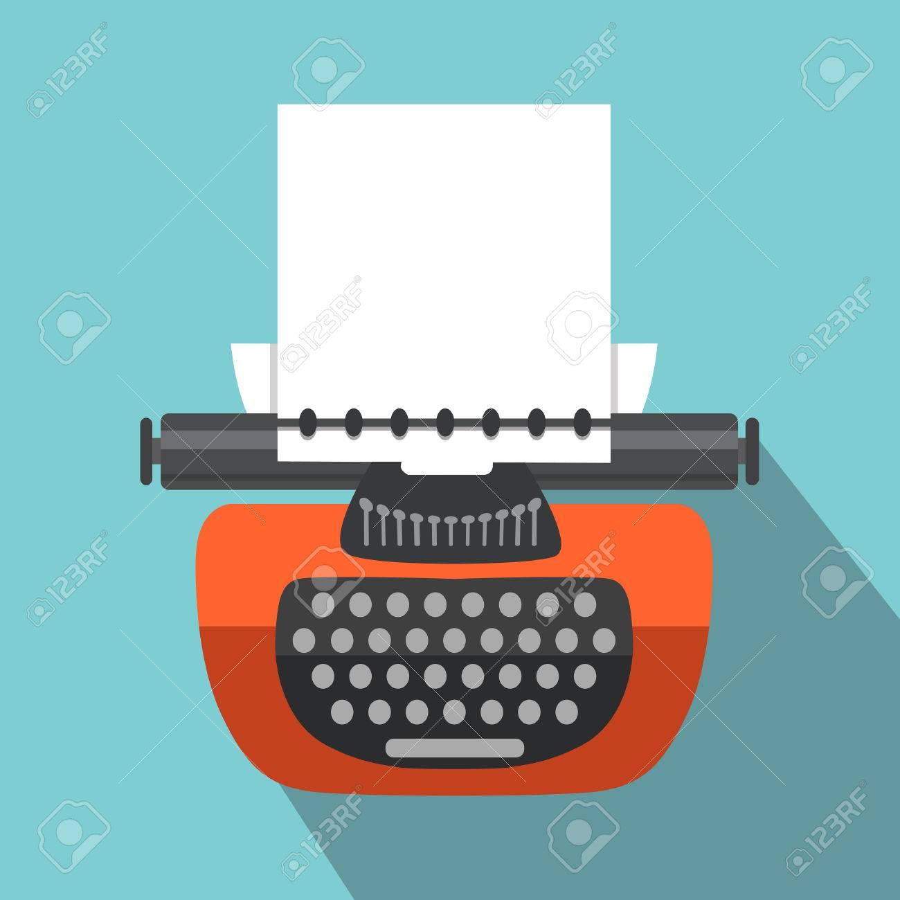 Isolierte Vintage Schreibmaschine Retro Ausrüstung Wohnung Stil