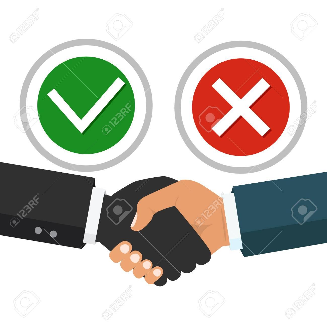 Vector Business Partnership Illustration Handshake Symbol Of