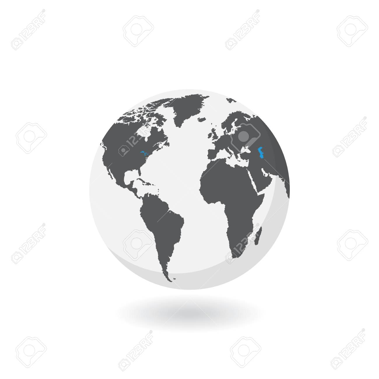 Earth globe icon vector world map isolated on white background earth globe icon vector world map isolated on white background stock vector gumiabroncs Gallery