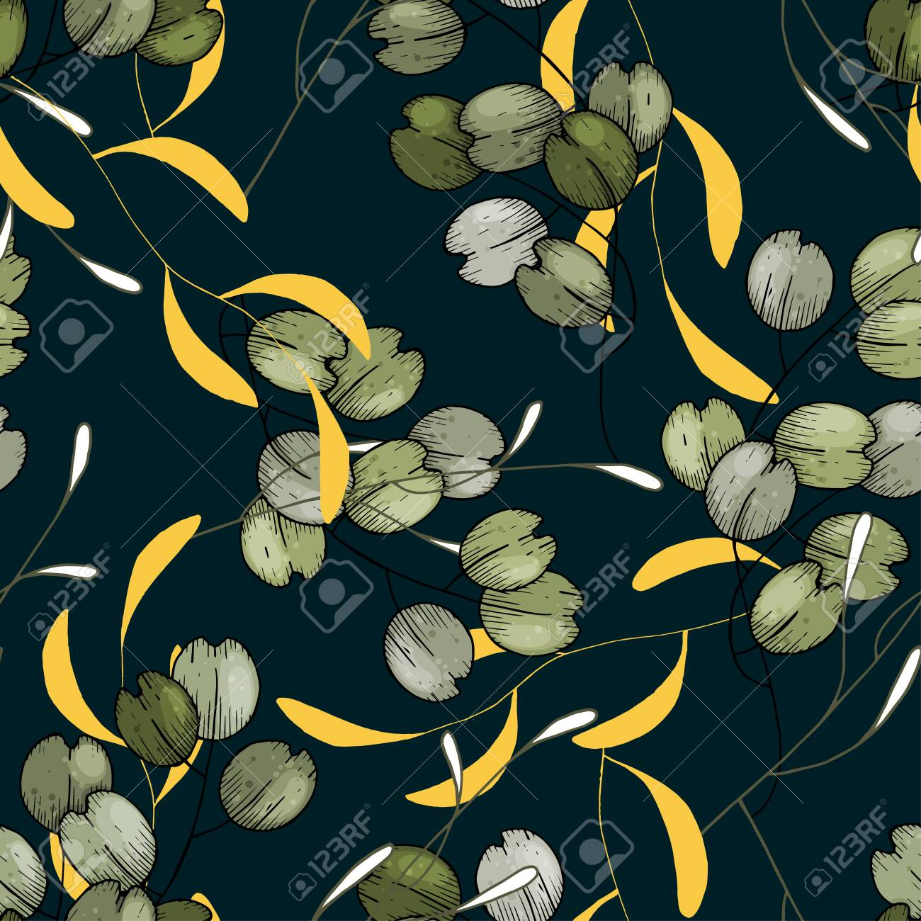 Realistic Tropical Leaves Branches And Foliage Seamless Pattern Royalty Free Cliparts Vectors And Stock Illustration Image 148959122