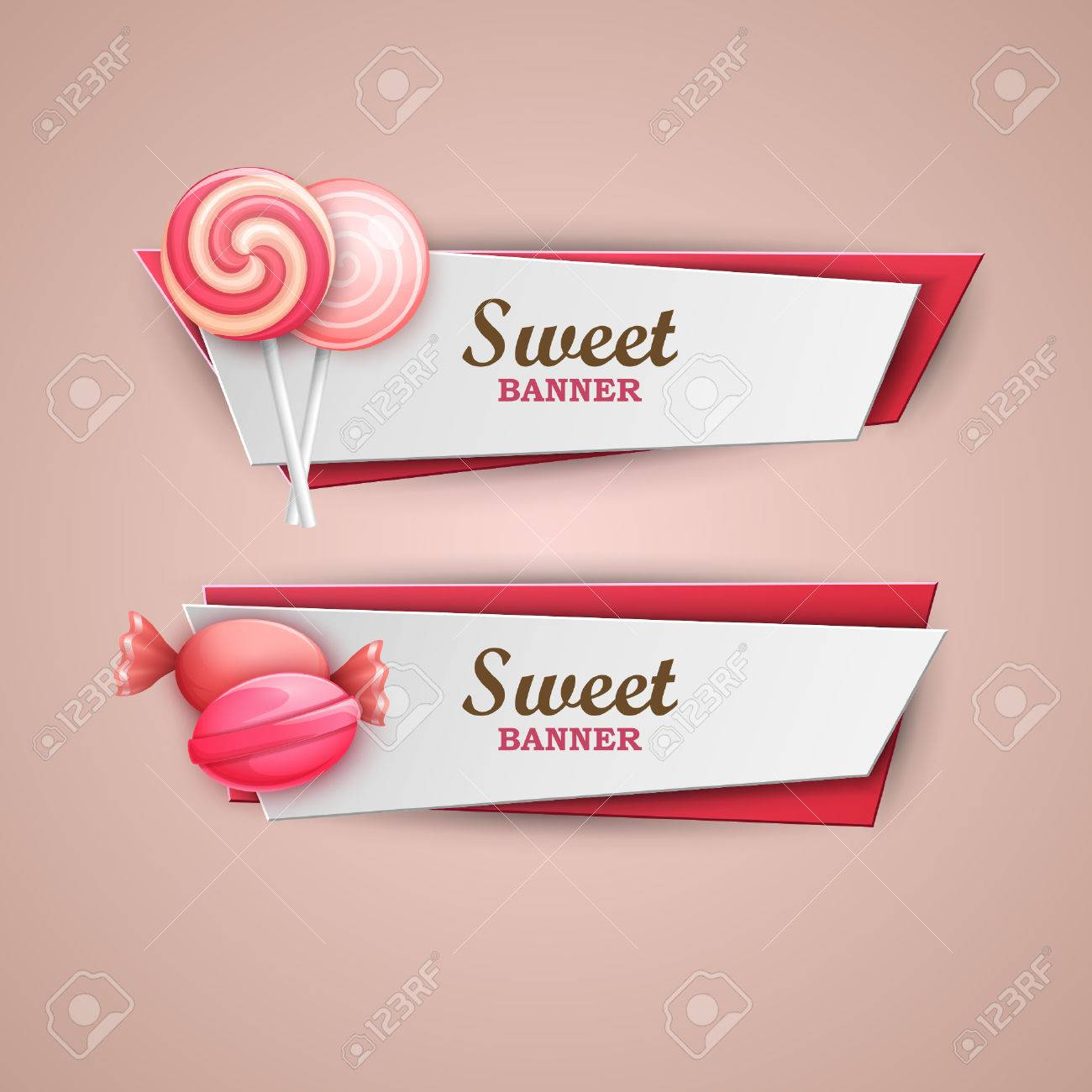 Sweet banners set - 51705640