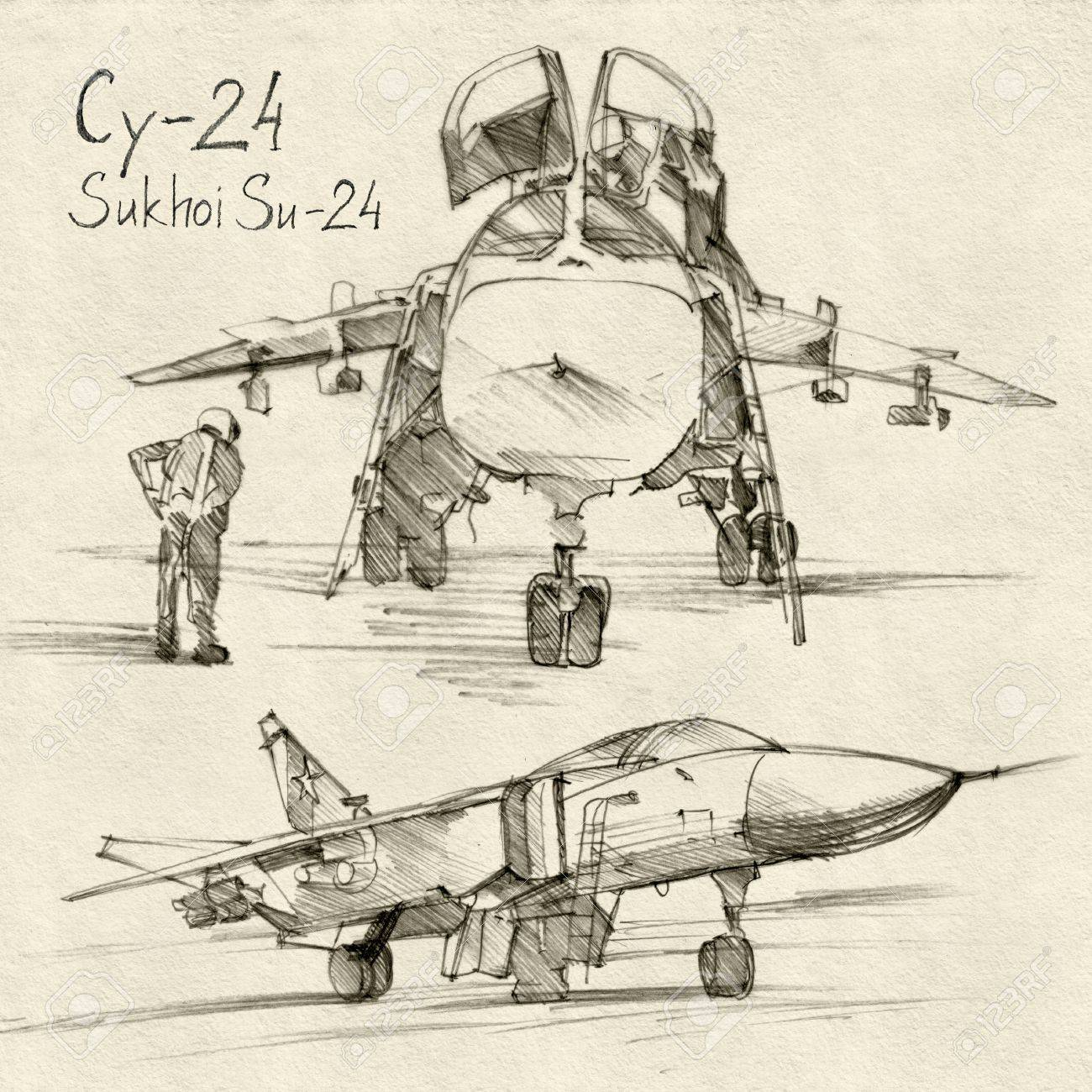 The series of soviet military enginery  The Sukhoi Su-24 a supersonic,