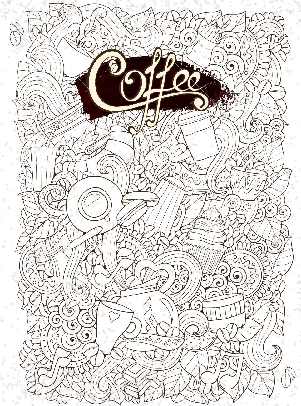 coffee sketchy notebook doodles coffee breakfast tea invite