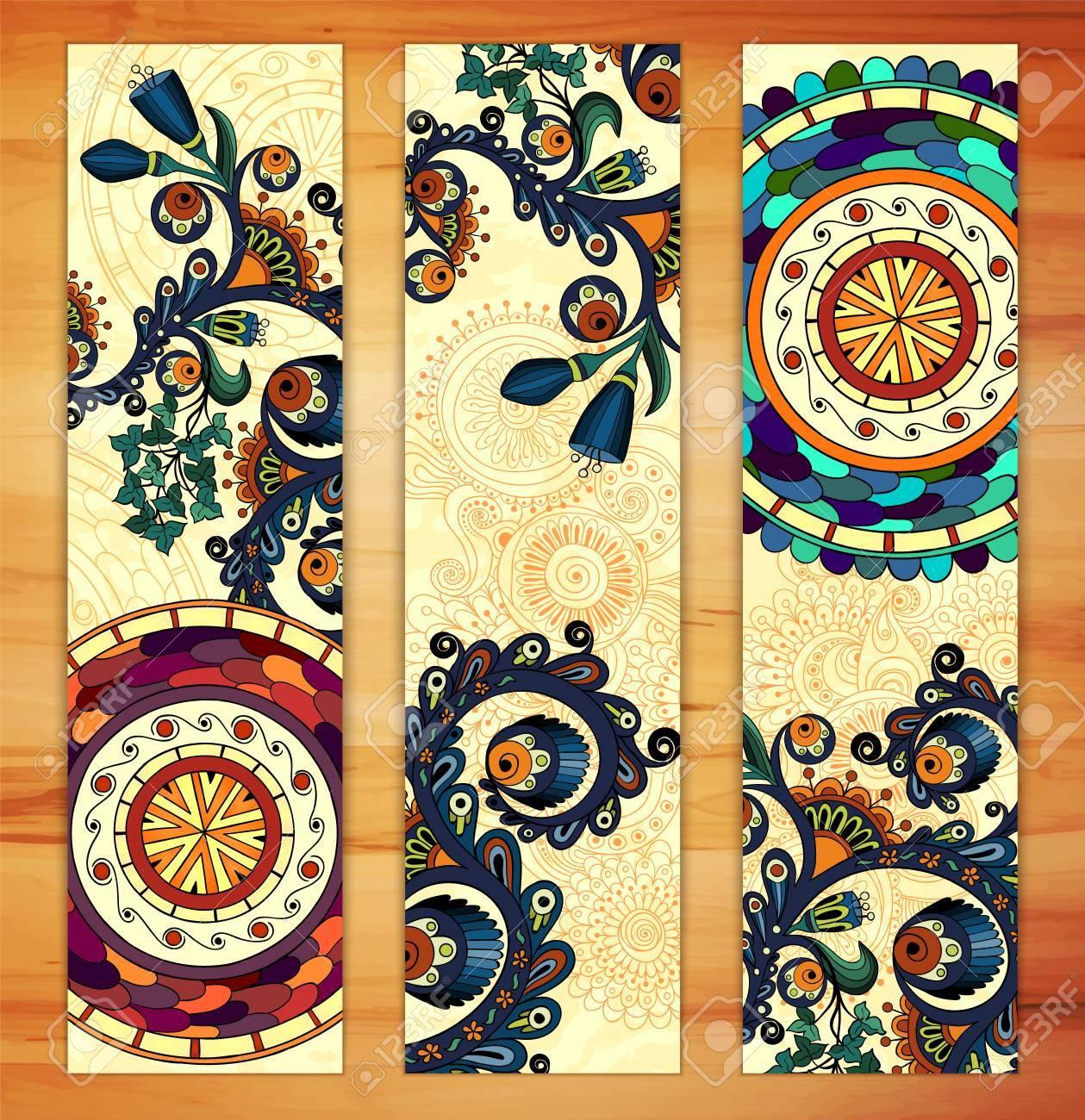 Paisley Ethnic Batik Backgrounds. Royalty Free Cliparts, Vectors ...