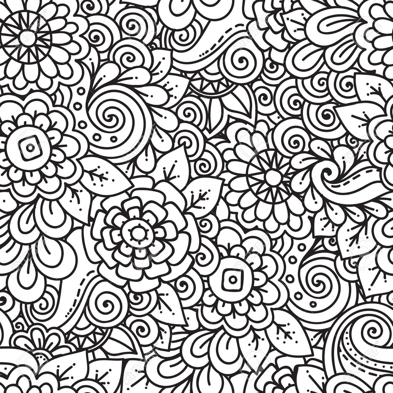 Pattern Doodle Interesting Decoration