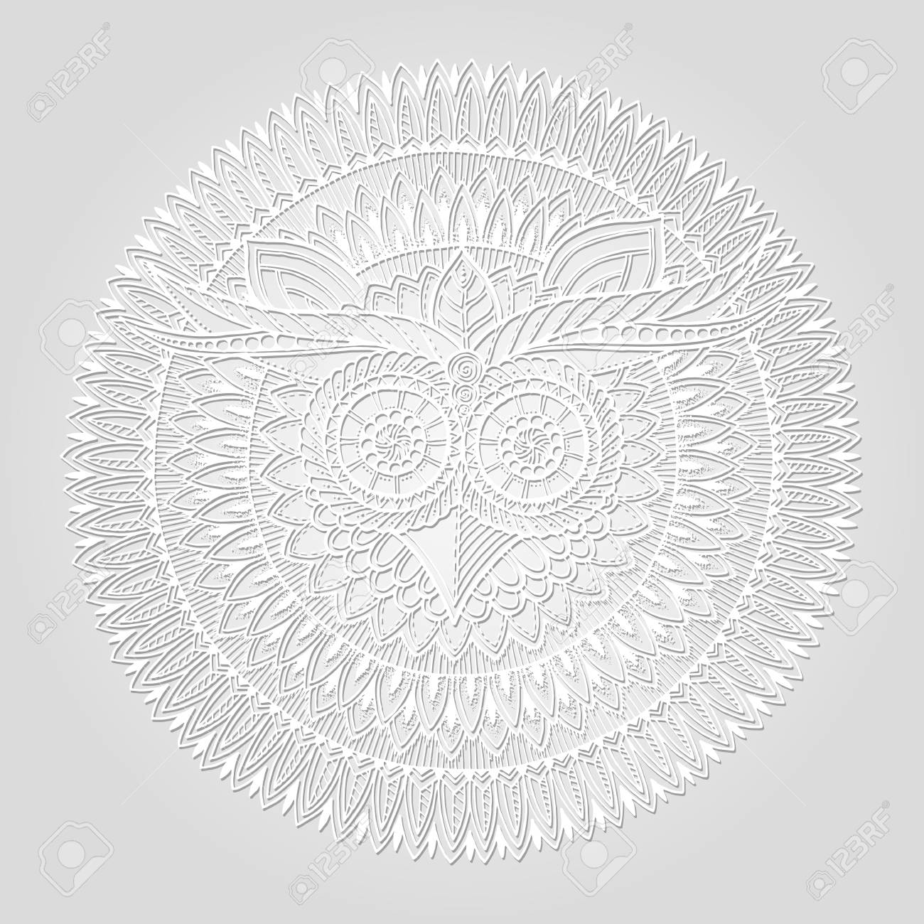 Buho Tatuaje Mandala mandala de buho colorido - tatuajes pequeños