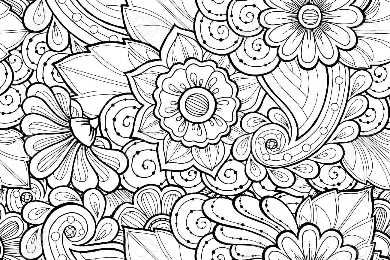Vettoriale Modello Bianco E Nero Ornamentale Senza Soluzione Di