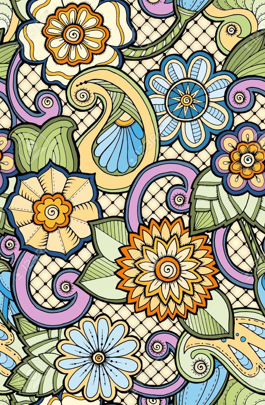 Vettoriale Modello Colorato Ornamentale Senza Soluzione Di
