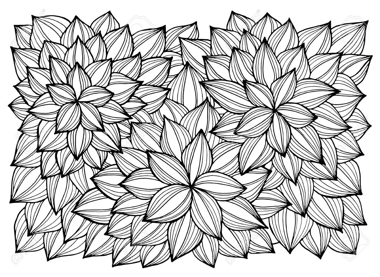 Tarjeta De Felicitación Con Las Flores Abstractas. Página Para ...